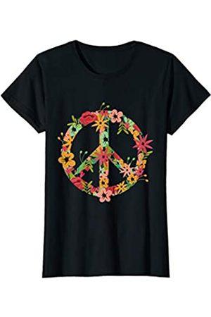 Hippie Kostüm 60s Design HIPPIE KOSTÜM BLÜMCHEN PEACE ZEICHEN DAMEN UND KINDER T-Shirt