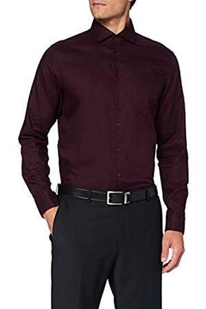 Seidensticker Herren Shaped Langarm Uni Twill Klassisches Hemd