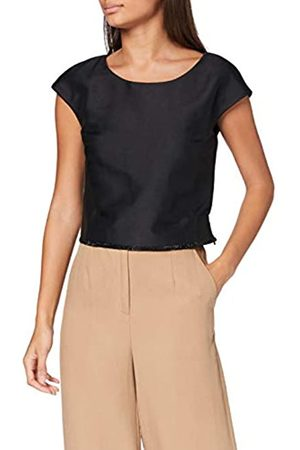 Apart Damen Satin Top Bluse, Black