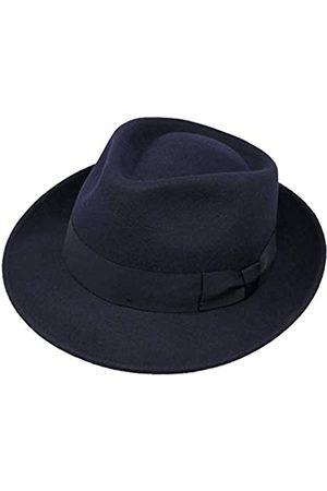 Borges & Scott Borges & Scott B&S Premium Doyle - Teardrop Fedora Hut - 100% Wollfilz - perfekt zum Reisen - was-serabweisend - Unisex - 62cm
