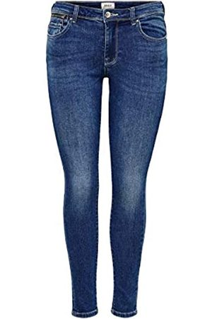 Only ONLY Female Skinny Fit Jeans ONLIsa Life Zip Reg 2930Dark Blue Denim
