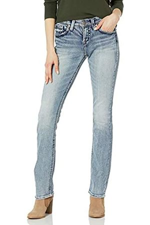 Silver Silver Jeans Co. Damen Suki Curvy Fit High Rise Baby Bootcut Jeans