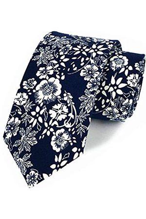 Kihatwin Krawatte mit Blumenmuster für Herren, Pfingstrosen-Druck, Skinny Baumwolle