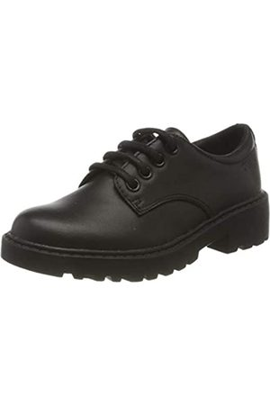 Geox Geox J Casey Girl C School Uniform Shoe, Schwarz (Black 01
