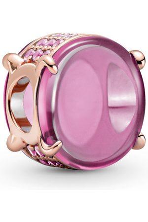 PANDORA Charm - Pink Oval Cabochon - 789309C02