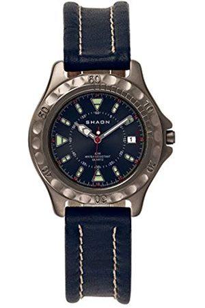 Shaon Shaon Herren Analog Quarz Uhr mit Leder Armband 22-6102-99