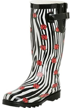 Chooka Damen Rose Regenstiefel, Mehrere (Zebra)