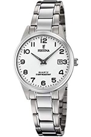 Festina Damen Analog Quarz Uhr mit Edelstahl Armband F20509/1
