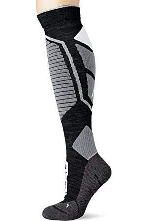 Head HEAD Unisex-Adult Performance Kneehigh Ski (1 Pack) Skiing Socks, mid Grey/Black