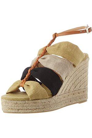 Castaner Damen BISI Sneaker, Natural/Amarillo/Negro