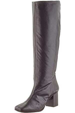 SELECTED Damen SLFZOEY HIGH Shafted Leather Boot B Stiefel, Black