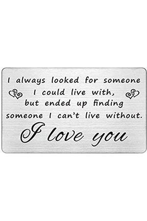 FALOGIJE Gravierte Brieftaschen-Einsätze, Jahrestagskarte, Geschenke für Männer, Metall-Brieftaschen-Einsatz, Geschenke für ihn, Freund, I Love You More, Ehemann-Geschenke von Ehefrau, einzigartige Geschenke für Männer