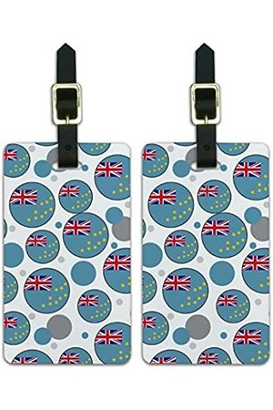 Graphics and More Graphics & More T-z-Tuvalu Nationalflagge (Weiß) - Luggage.Tags.09747