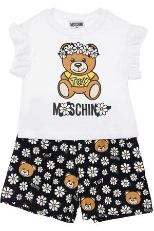 Moschino T-shirt Und Shorts Aus Jersey Mit Druck
