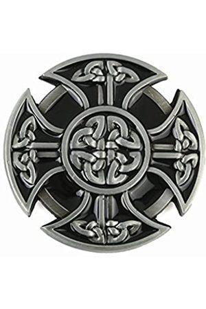 MASOP VOGU Masop Herren Gürtelschnalle aus Metall mit keltischem Kreuz, für 3