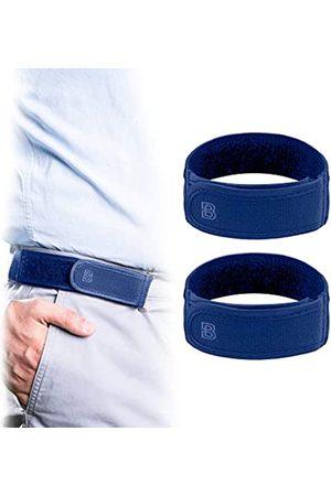 BeltBro Titan Blue 2 Medium No Buckle Elastic Belt For Men — Fits 3,8 Inch Belt Loops