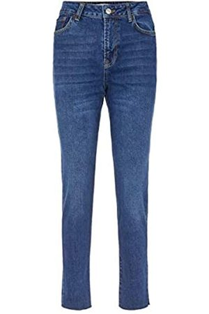 Pieces PIECES Female Straight Fit Jeans High Waist SDark Blue Denim