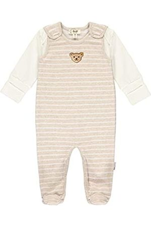 Steiff Steiff Baby-Unisex mit süßer Teddybärapplikation Set Strampler + T-Shirt Langarm GOTS