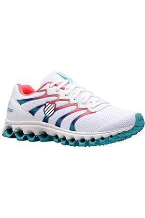 K-Swiss Damen Tubes Comfort 200 Sneaker, WHT/Fluo PINK/Blue Turq