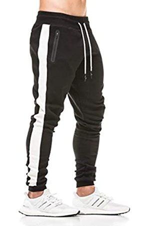 Gopune Men's Slim Fit Joggers Fitness Sweatpants Gym Workout Training Pants (Black