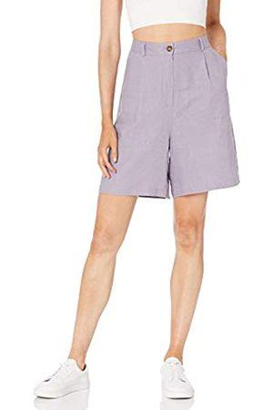 The Drop The Drop Millie Kurze Hose für Damen, aus Leinen, plissiert, lockere Passform, üppige Länge