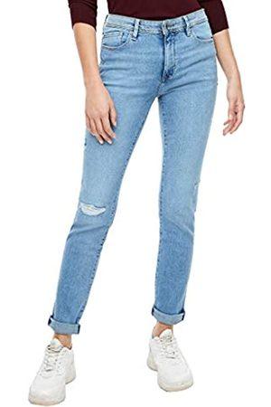 s.Oliver S.Oliver Damen Slim Fit: Slim leg-Jeans im Used-Look light blue 38.34