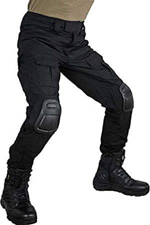 zuoxiangru Tactical-Herrenhose mit Tarnmuster, mehrere Taschen, Outdoor-Militärhose für Airsoft, Jagdhose mit Knieschützern, Herren