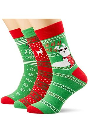 Urban classics Unisex Christmas Lama 3-Pack Socken