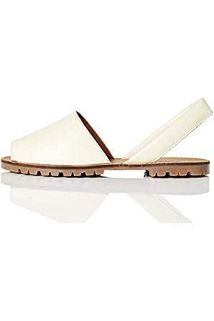 FIND FIND Menorcan Leather Sandalen, Elfenbein (Off-White)