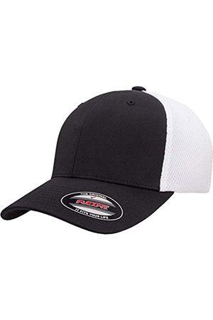 Flexfit Flexfit Unisex-Erwachsene Ultrafibre Airmesh Fitted Cap Mütze, schwarz/weiß
