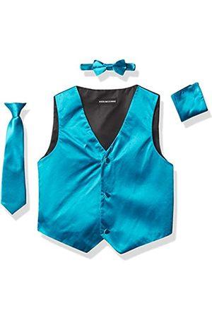 a.x.n.y Mens 4 Piece With Tuxedo Vest, Tie, Bow Tie, and Handkerchief Formal Vest Set Combo
