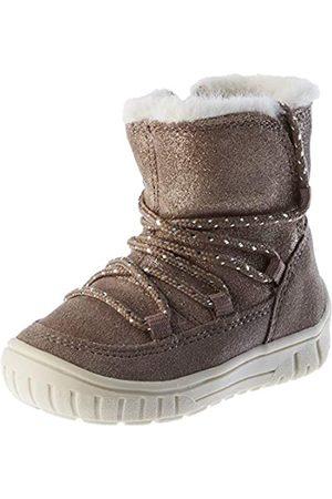 Geox B OMAR Girl B Snow Boot, Brown (Smoke Grey)