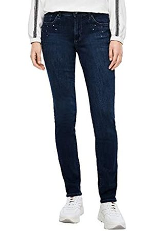 s.Oliver S.Oliver Damen Slim Fit: Slim Leg-Jeans mit Schmucksteinen 44.32