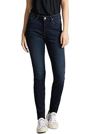 Lee Damen Jeans Scarlett High Skinny Fit - Blau - W24-34 Baumwolle Stretch, Größe:W 29 L 33