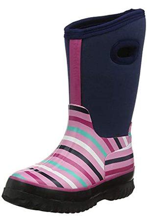 Hatley Hatley Jungen Mädchen All Weather Boots Gummistiefel, Blau (Winter Stripe 400)