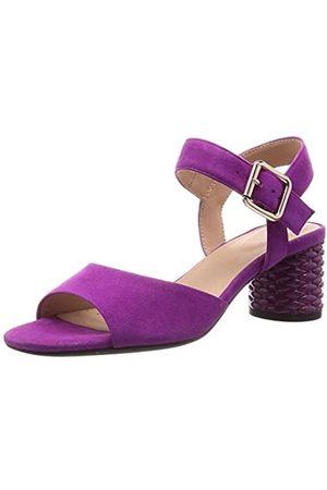 Geox Geox Mädchen D ORTENSIA MID Sandalo C Peeptoe Sandalen, Pink (Cyclamen C8335)