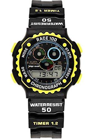 Digi-Tech Digi-Tech Herren-Armbanduhr Chrono Race Digital Quarz Kautschuk DT102911