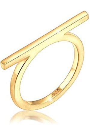 Elli Elli Ring Damen Geo Minimal Blogger Trend Edgy in 925 Sterling Silber