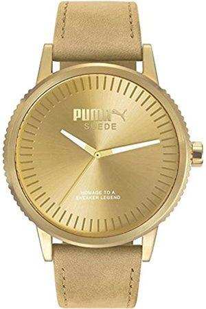 PUMA PUMA Unisex Erwachsene Analog Quarz Smart Watch Armbanduhr mit Leder Armband PU104101009