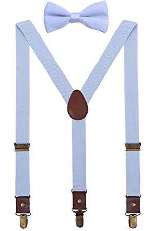 ORSKY Hosenträger und Fliege verstellbar mit Kupfer-Clips - - XL:119 cm