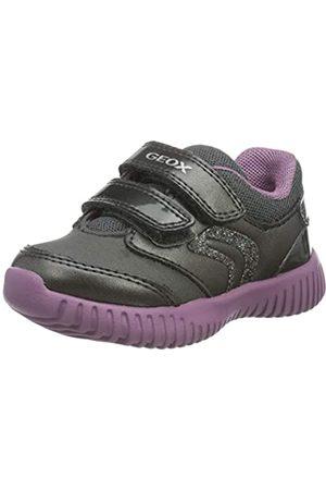 Geox Geox Baby-Mädchen B Waviness Girl A Sneaker, (Dark Grey)