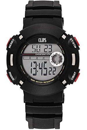 CLIPS Herren-Armbanduhr Kids 557-6010-44 Digital Quarz