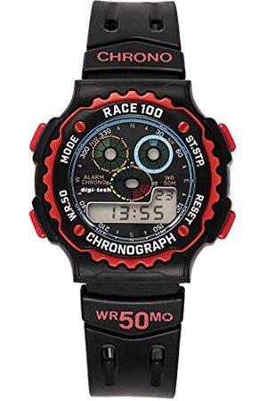 Digi-Tech Herren-Armbanduhr Chrono Race Digital Quarz Kautschuk DT102913
