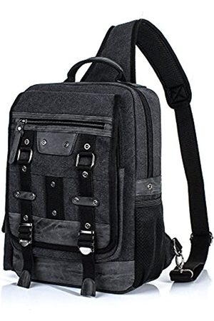 H HIKKER-LINK H HIKKER-LINK Canvas Messenger Bag Retro Sling Rucksack Crossbody Satchel