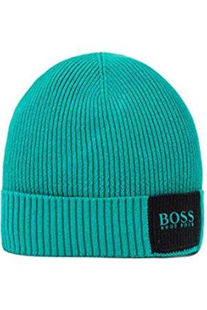 HUGO BOSS Herren Arebo Beanie Gerippte Mütze aus Baumwolle mit Wolle im Colour-Block-Design