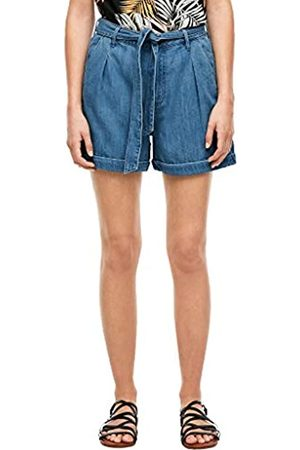 s.Oliver S.Oliver Damen Relaxed Fit: Shorts aus Leinenmix Blue Lagoon Denim 32