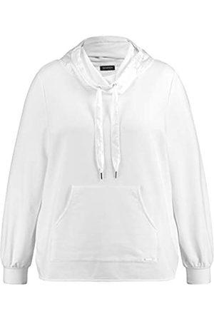 Samoon Damen Sweatshirt mit Chiffon-Detail leger 50