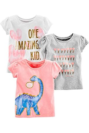 Simple Joys by Carter's Simple Joys by Carter's 3-pack Short-sleeve Graphic Tees T-Shirt Pink Dino, Gray, White Heart 2T