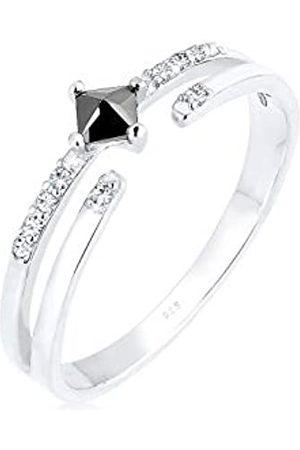 Elli Elli Ring Damen Modern mit Zirkonia Steinen mit Swarovski Kristall in 925 Sterling