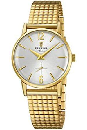 Festina Damen Analog Quarz Uhr mit Edelstahl Armband F20257/1